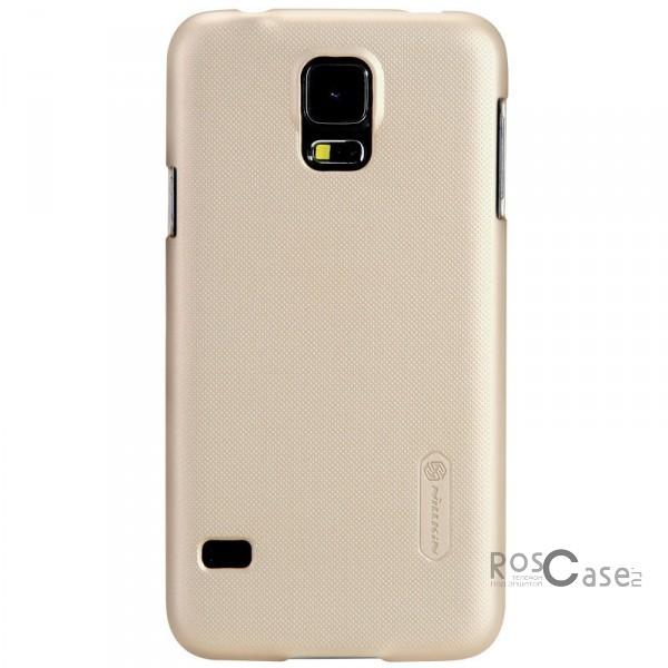 Чехол Nillkin Matte для Samsung G900 Galaxy S5 (+ пленка) (Золотой)Описание:Изготовлен компанией Nillkin;Спроектирован персонально для Samsung G900 Galaxy S5;Материал: высококачественный пластик;Форма: накладка.Особенности:Исключается появление царапин и возникновение потертостей;Восхитительная амортизация при любом ударе;Гладкая матовая поверхность;Элегантный, изящный дизайн;Не подвержен деформации;Непритязателен в уходе.<br><br>Тип: Чехол<br>Бренд: Nillkin<br>Материал: Поликарбонат