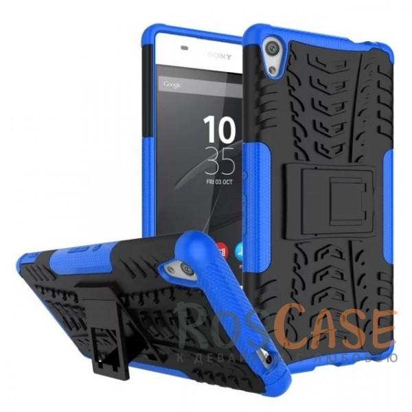 Противоударный двухслойный чехол Shield для Sony Xperia XA Ultra Dual с подставкой (Синий)Описание:разработан специально для Sony Xperia XA Ultra Dual;материалы: поликарбонат, термополиуретан;тип: накладка.&amp;nbsp;Особенности:двухслойный;ударопрочный;оригинальный дизайн;стильный дизайн;в наличии все функциональные вырезы;функция подставки.<br><br>Тип: Чехол<br>Бренд: Epik<br>Материал: TPU