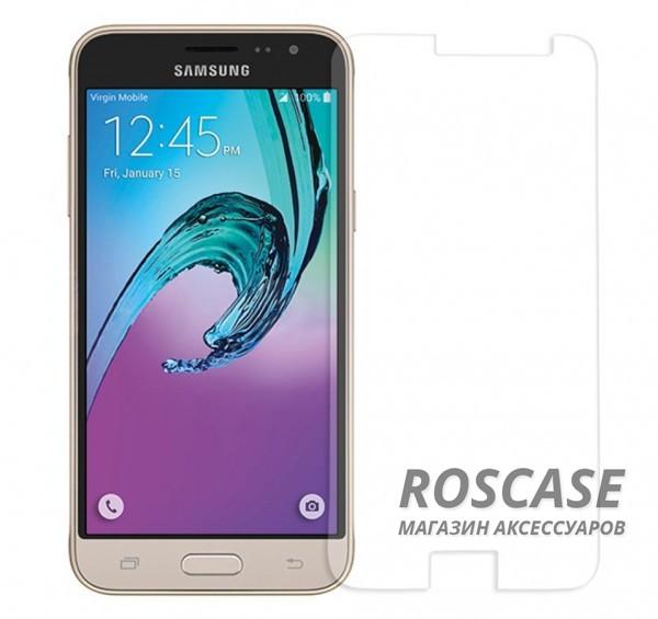 Защитное стекло Ultra Tempered Glass 0.33mm (H+) для Samsung J320F Galaxy J3 (2016) (карт. уп-вка)Описание:совместимо с устройством Samsung J320F Galaxy J3 (2016);материал: закаленное стекло;тип: защитное стекло на экран.&amp;nbsp;Особенности:закругленные&amp;nbsp;грани стекла обеспечивают лучшую фиксацию на экране;стекло очень тонкое - 0,33 мм;отзыв сенсорных кнопок сохраняется;стекло не искажает картинку, так как абсолютно прозрачное;выдерживает удары и защищает от царапин;размеры и вырезы стекла соответствуют особенностям дисплея.<br><br>Тип: Защитное стекло<br>Бренд: Epik