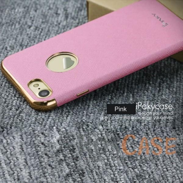 Кожаная накладка iPaky Chrome Series для Apple iPhone 7 (4.7) (Розовый)Описание:производитель: iPaky;создана для&amp;nbsp;Apple iPhone 7 (4.7);материал изделия: искусственная кожа, хромированный пластик;конфигурация: накладка.Особенности:двухцветный дизайн;рельефная фактура;встроенная металлическая пластина;наличие всех функциональных вырезов;защита от царапин и ударов.<br><br>Тип: Чехол<br>Бренд: Epik<br>Материал: Искусственная кожа