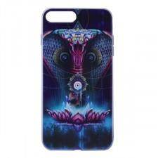 """Тонкий силиконовый чехол """"Космические животные"""" с прозрачными краями для Apple iPhone 7 plus / 8 plus (5.5"""")"""