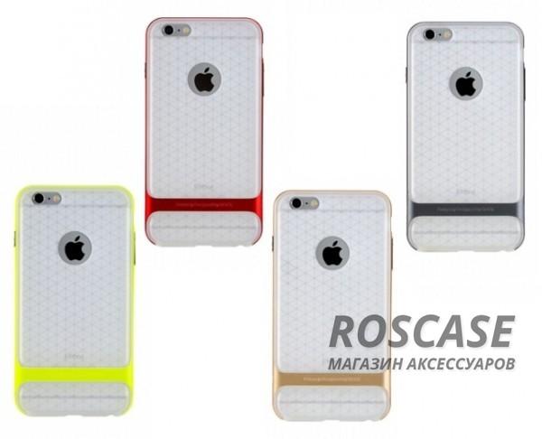 TPU+PC чехол Rock Royce (Transparent) Series для Apple iPhone 6/6s (4.7)Описание:фирма-производитель  - &amp;nbsp;Rock;совместимость - Apple iPhone 6/6s (4.7);материалы  -  полиуретан, поликарбонат;тип  -  накладка.&amp;nbsp;Особенности:пластичный;имеет все необходимые вырезы;легко чистится;не увеличивает габариты;защищает от ударов и падений;износостойкий.<br><br>Тип: Чехол<br>Бренд: ROCK<br>Материал: TPU