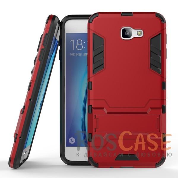 Ударопрочный чехол-подставка Transformer для Samsung G570F Galaxy J5 Prime с мощной защитой корпуса (Красный / Dante Red)Описание:ударопрочный аксессуар с функцией подставки;чехол разработан для Samsung G570F Galaxy J5 Prime;материалы - термополиуретан, поликарбонат;тип - накладка.<br><br>Тип: Чехол<br>Бренд: Epik<br>Материал: TPU