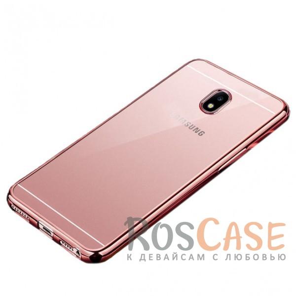 Прозрачный силиконовый чехол для Samsung J530 Galaxy J5 (2017) с глянцевой окантовкой (Розовый)Описание:совместимость - Samsung J530 Galaxy J5 (2017);глянцевая окантовка;материал - TPU;тип - накладка;защита от царапин, трещин, сколов;защита камеры;не заметны отпечатки пальцев;ульратонкий дизайн;все необходимые функциональные вырезы.<br><br>Тип: Чехол<br>Бренд: Epik<br>Материал: TPU
