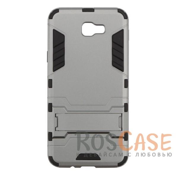 Ударопрочный чехол-подставка Transformer для Samsung G570F Galaxy J5 Prime с мощной защитой корпуса (Металл / Gun Metal)Описание:ударопрочный аксессуар с функцией подставки;чехол разработан для Samsung G570F Galaxy J5 Prime;материалы - термополиуретан, поликарбонат;тип - накладка.<br><br>Тип: Чехол<br>Бренд: Epik<br>Материал: TPU