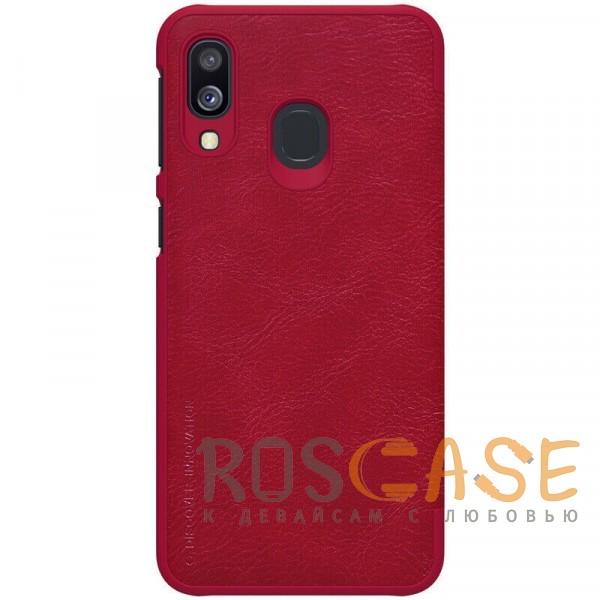 Изображение Красный Nillkin Qin натур. кожа   Чехол-книжка для Samsung A405F Galaxy A40