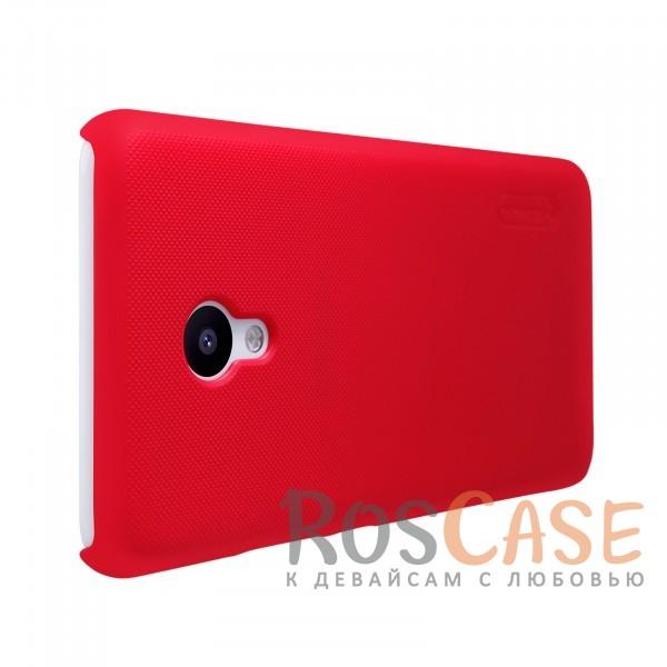 Изображение Красный Nillkin Super Frosted Shield | Матовый чехол для Meizu M5 (+ пленка)