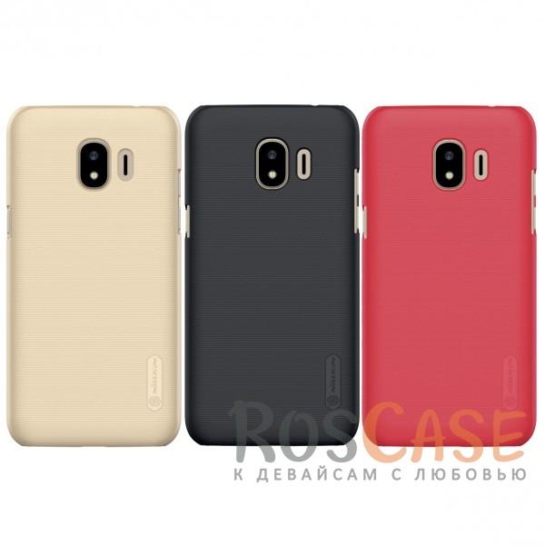 Матовый чехол для Samsung Galaxy J2 Pro (2018) (+ пленка)Описание:совместимость:&amp;nbsp;Samsung Galaxy J2 Pro (2018)материал: поликарбонат;тип: накладка;закрывает заднюю панель и боковые грани;защищает от ударов и царапин;рельефная фактура;не скользит в руках;ультратонкий дизайн;защитная плёнка на экран в комплекте.<br><br>Тип: Чехол<br>Бренд: Nillkin<br>Материал: Поликарбонат