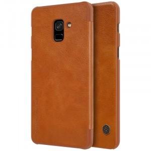 Nillkin Qin натур. кожа | Чехол-книжка для Samsung A730 Galaxy A8+ (2018)