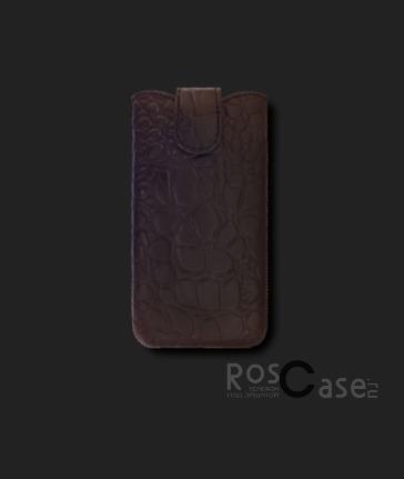 фото кожаный футляр Mavis Classic Crocodile 115x61 для S5830i/Lumia 620/Y200