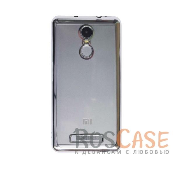 Прозрачный силиконовый чехол для Xiaomi Redmi Note 3 / Redmi Note 3 Pro с глянцевой окантовкой (Серебряный)Описание:подходит для Xiaomi Redmi Note 3 / Redmi Note 3 Pro;материал - силикон;тип - накладка.Особенности:глянцевая окантовка;прозрачный центр;гибкий;все вырезы в наличии;не скользит в руках;ультратонкий.<br><br>Тип: Чехол<br>Бренд: Epik<br>Материал: Силикон