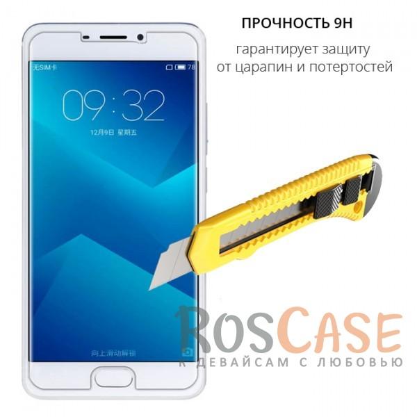 Фото Прозрачное защитное стекло с закругленными краями и олеофобным покрытием для Meizu M5 Note