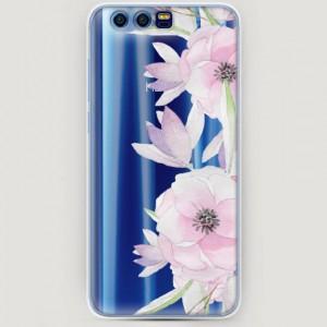 RosCase | Силиконовый чехол Нежные анемоны на Huawei Honor 9
