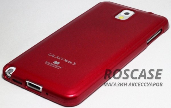 фото Красный TPU чехол Mercury Jelly Color series для Samsung N9000/N9002 Galaxy Note 3