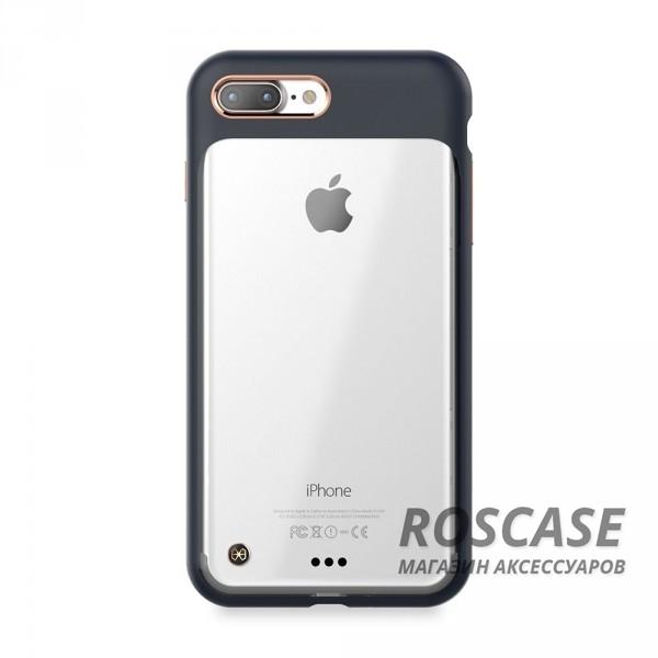 Тонкий защитный чехол STIL Monokini с прозрачной вставкой и металлическая окантовка вокруг камеры для Apple iPhone 7 plus / 8 plus (5.5) (Синий / Navy)Описание:создан компанией&amp;nbsp;STIL;разработан с учетом особенностей&amp;nbsp;Apple iPhone 7 plus / 8 plus (5.5);материалы - термополиуретан, поликарбонат;тип - накладка.Особенности:сочетание прозрачного и матового материалов;золотистая окантовка вокруг камеры и кнопок;доступ ко всем функциям гаджета благодаря точным вырезам;защита от царапин и ударов;защита экрана благодаря выступающим бортикам;размеры - 165*84*10 мм, 46&amp;nbsp;гр.<br><br>Тип: Чехол<br>Бренд: Stil<br>Материал: Поликарбонат