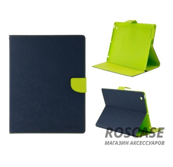 Чехол (книжка) Mercury Fancy Diary series для Apple iPad 2/3/4 (Синий / Лайм)Описание:производитель  -  бренд&amp;nbsp;Mercury;совместим с Apple iPad 2/3/4;материалы  -  искусственная кожа, термополиуретан;форма  -  чехол-книжка.&amp;nbsp;Особенности:рельефная поверхность;все функциональные вырезы в наличии;внутренние кармашки;магнитная застежка;защита от механических повреждений;трансформируется в подставку.<br><br>Тип: Чехол<br>Бренд: Mercury<br>Материал: Искусственная кожа