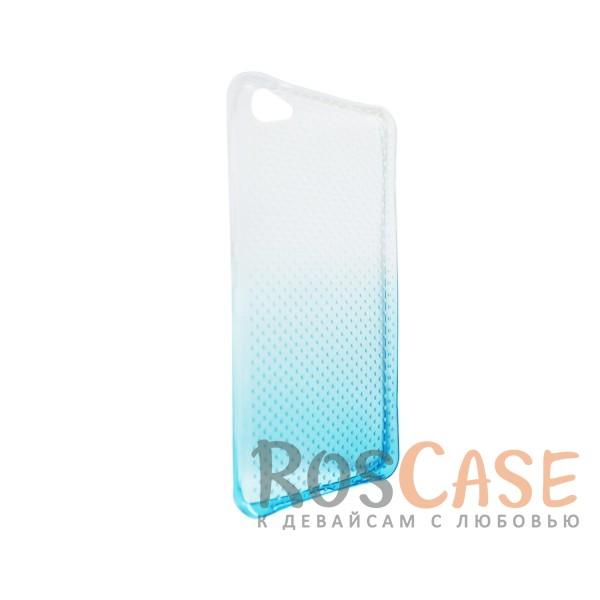 Изображение Голубой Гибкий чехол для Meizu U20 из прозрачного силикона с градиентным цветным напылением