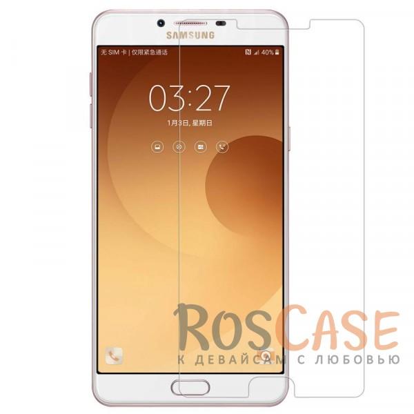Ультратонкое антибликовое защитное стекло с олеофобным покрытием анти-отпечатки для Samsung Galaxy C9 ProОписание:компания&amp;nbsp;Nillkin;подходит для Samsung Galaxy C9 Pro;материал: закаленное стекло;защита экрана от царапин и ударов;свойство анти-отпечатки;свойство анти-блик;ультратонкое - 0,2 мм;закругленные края 2,5D;размеры стекла - 153.8*74.5&amp;nbsp;мм.<br><br>Тип: Защитное стекло<br>Бренд: Nillkin