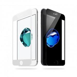 """Тонкое олеофобное защитное стекло с закруленными краями из гибкого силикона для Apple iPhone 7 Plus (5.5"""")"""