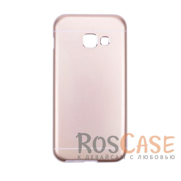 Тонкий двухслойный алюминиевый чехол с хромированными вставками и защитой кнопок для Apple iPhone 6/6s (4.7) (Золотой)Описание:разработан для Samsung A320 Galaxy A3 (2017);материалы - металл, термополиуретан;двухслойная конструкция;матовый на ощупь;на нем не заметны отпечатки пальцев;тип - накладка;предусмотрены все необходимые вырезы.<br><br>Тип: Чехол<br>Бренд: Epik<br>Материал: Металл