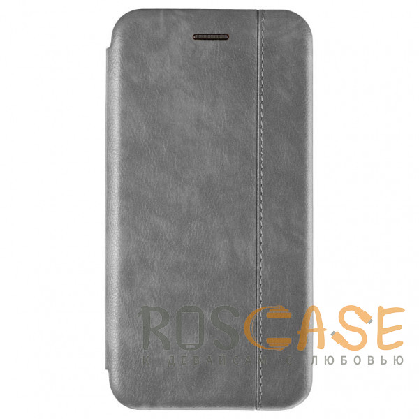 Фото Серый Open Color 2   Чехол-книжка на магните для iPhone 12 / 12 Pro с подставкой и карманом