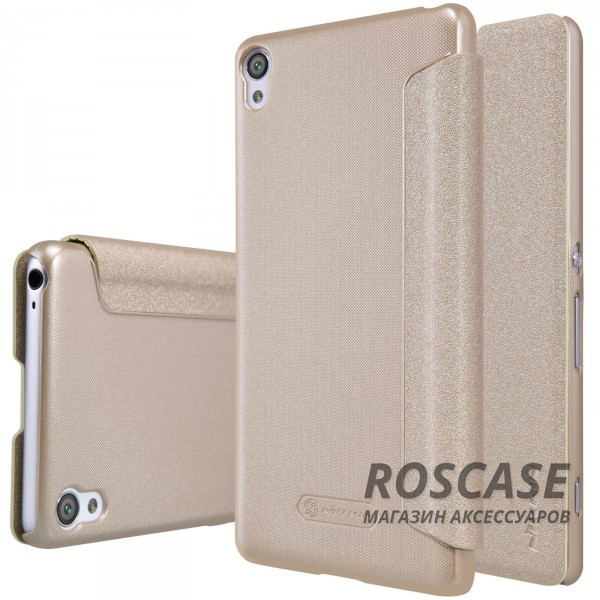 Кожаный чехол (книжка) Nillkin Sparkle Series для Sony Xperia XA / XA Dual (Золотой)Описание:компания -&amp;nbsp;Nillkin;идеальная совместимость с Sony Xperia XA / XA Dual;материалы  -  синтетическая кожа, поликарбонат;форма  -  чехол-книжка.&amp;nbsp;Особенности:защищает со всех сторон;имеет все необходимые вырезы;легко чистится;функция Sleep mode;не увеличивает габариты;защищает от ударов и царапин;блестящая поверхность.<br><br>Тип: Чехол<br>Бренд: Nillkin<br>Материал: Искусственная кожа