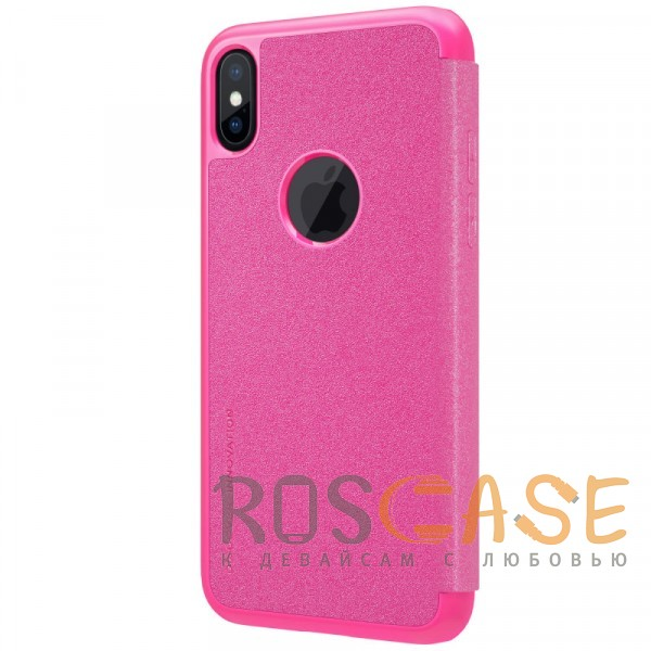 "Фото Розовый Nillkin Sparkle   Чехол-книжка с вырезом под логотип для Apple iPhoneX(5.8"")/XS(5.8"")"