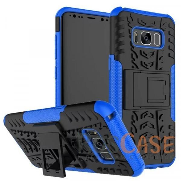 Противоударный двухслойный чехол Shield для Samsung G955 Galaxy S8 Plus с подставкой (Синий)Описание:совместим с Samsung G955 Galaxy S8 Plus;удобная функция подставки;материал - поликарбонат, термополиуретан;тип - накладка;ударопрочная конструкция;предусмотрены все необходимые вырезы;рельефная фактура.<br><br>Тип: Чехол<br>Бренд: Epik<br>Материал: TPU