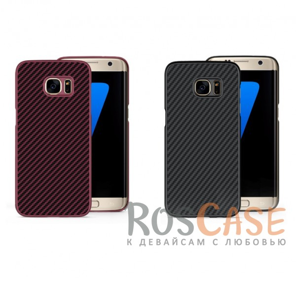Пластиковая накладка Nillkin Synthetic Fiber series для Samsung G935F Galaxy S7 Edge<br><br>Тип: Чехол<br>Бренд: Nillkin<br>Материал: Пластик