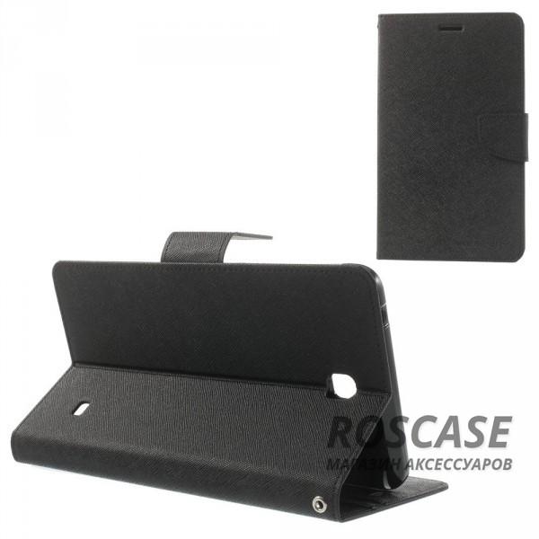 Чехол (книжка) Mercury Fancy Diary series для Samsung Galaxy Tab 4 7.0 (Черный)Описание:производитель  -  бренд&amp;nbsp;Mercury;совместим с Samsung Galaxy Tab 4 7.0;материалы  -  искусственная кожа, термополиуретан;форма  -  чехол-книжка.&amp;nbsp;Особенности:рельефная поверхность;все функциональные вырезы в наличии;внутренние кармашки;магнитная застежка;защита от механических повреждений;трансформируется в подставку.<br><br>Тип: Чехол<br>Бренд: Mercury<br>Материал: Искусственная кожа