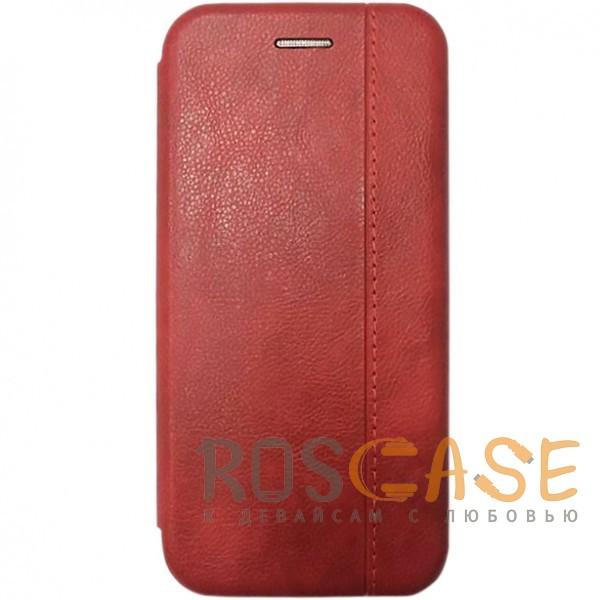 Фото Красный Open Color 2 | Чехол-книжка на магните для Huawei Y6 (2018) с подставкой и внутренним карманом