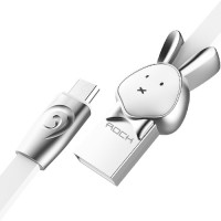 фото Rabbit-White (Rabbit-White цвет) Кабель ROCK MicroUSB (Chinese Zodiac) 1m