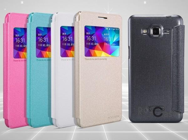Кожаный чехол (книжка) Nillkin Sparkle Series для Samsung G530H/G531H Galaxy Grand PrimeОписание:Изготовлен компанией&amp;nbsp;Nillkin;Спроектирован персонально для Samsung G530H/G531H Galaxy Grand Prime;Материал: синтетическая высококачественная кожа и полиуретан;Форма: чехол в виде книжки.Особенности:Исключается появление царапин и возникновение потертостей;Восхитительная амортизация при любом ударе;Фактурная поверхность;Элегантное окошко;Не подвержен деформации;Непритязателен в уходе.<br><br>Тип: Чехол<br>Бренд: Nillkin<br>Материал: Искусственная кожа