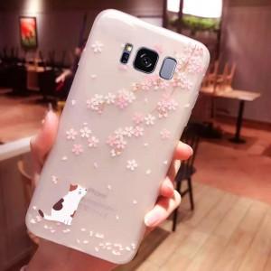 Силиконовый матовый чехол с принтом для Samsung G955 Galaxy S8 Plus