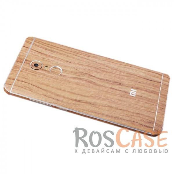 Виниловая наклейка на обе стороны c текстурой дерева для Xiaomi Redmi Note 4 (MTK) (Акация)<br><br>Тип: Чехол<br>Бренд: Epik<br>Материал: Натуральная кожа