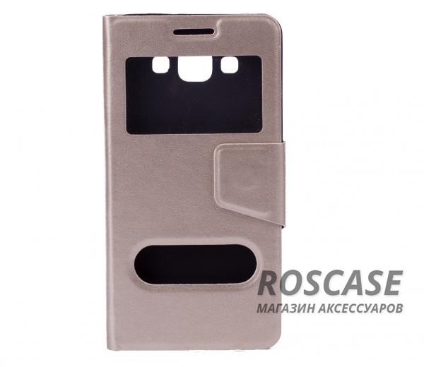 Чехол (книжка) с TPU креплением для Samsung A500H / A500F Galaxy A5 (Золотой)Описание:разработан компанией&amp;nbsp;Epik;спроектирован для Samsung A500H / A500F Galaxy A5;материал: синтетическая кожа;тип: чехол-книжка.&amp;nbsp;Особенности:имеются все функциональные вырезы;магнитная застежка закрывает обложку;защита от ударов и падений;в обложке предусмотрены отверстия;превращается в подставку.<br><br>Тип: Чехол<br>Бренд: Epik<br>Материал: Искусственная кожа