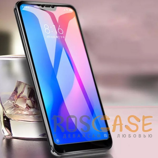 Изображение Черное 5D защитное стекло для Xiaomi Mi 8 Lite / Mi 8 Youth (Mi 8X) на весь экран