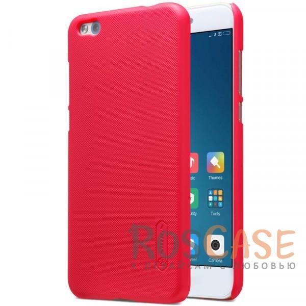 Матовый чехол для Xiaomi Mi 5c (+ пленка) (Красный)Описание:бренд&amp;nbsp;Nillkin;совместим с Xiaomi Mi 5c;материал: поликарбонат;рельефная фактура;тип: накладка;в наличии все функциональные вырезы;закрывает заднюю панель и боковые грани;не скользит в руках;защищает от ударов и царапин.<br><br>Тип: Чехол<br>Бренд: Nillkin<br>Материал: Поликарбонат