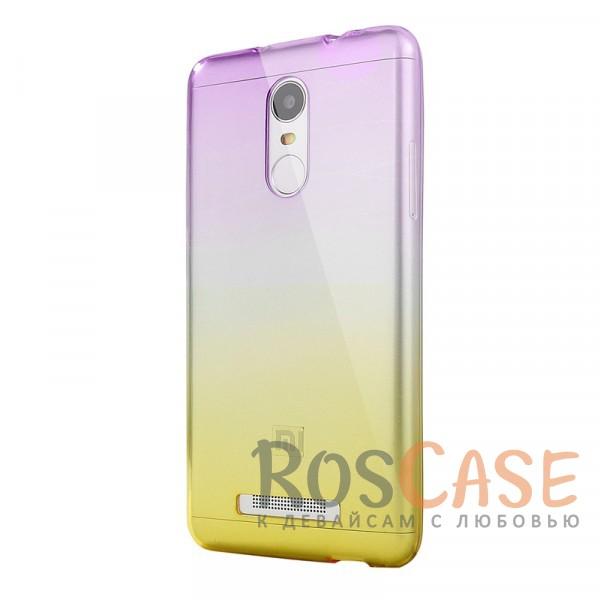 Прозрачный TPU чехол с цветным градиентом для Xiaomi Redmi Note 4 (Фиолетовый / Желтый)<br><br>Тип: Чехол<br>Бренд: Epik<br>Материал: TPU