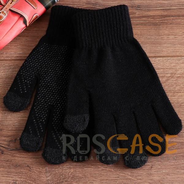 Изображение Черный Warm caress | Емкостные перчатки утепленные (нескользящие)