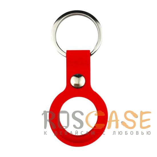 Фото Красный Силиконовый чехол брелок для Apple AirTag