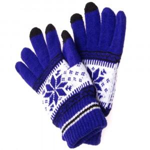 Перчатки Touch Glove для сенсорных (емкостных) экранов Снежинка