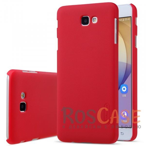 Чехол Nillkin Matte для Samsung G610F Galaxy J7 Prime (2016) (+ пленка) (Красный)<br><br>Тип: Чехол<br>Бренд: Nillkin<br>Материал: Пластик