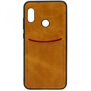 ILEVEL | Чехол с кожаным покрытием и с карманом-визитницей для Xiaomi Redmi Note 5 Pro