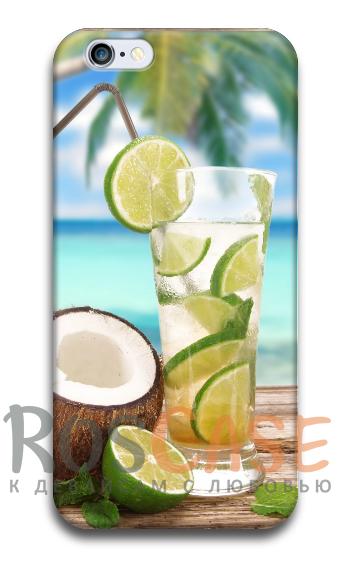 """Фото Коктейль Пластиковый чехол RosCase """"ЛЕТО!"""" для iPhone 6/6s (4.7"""")"""