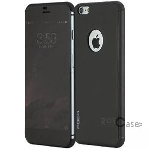 Чехол (книжка) Rock DR.V Series для Apple iPhone 6/6s plus (5.5) (Черный / Black)Описание:производитель  -  компания&amp;nbsp;Rock;разработан для Apple iPhone 6/6s plus (5.5);материалы  -  поликарбонат, полиуретан;форма  -  чехол-книжка.&amp;nbsp;Особенности:функция Smart window;декоративная фактура;имеются все функциональные разъемы;на нем не видны &amp;laquo;пальчики&amp;raquo;;защита от ударов и царапин.<br><br>Тип: Чехол<br>Бренд: ROCK<br>Материал: Искусственная кожа