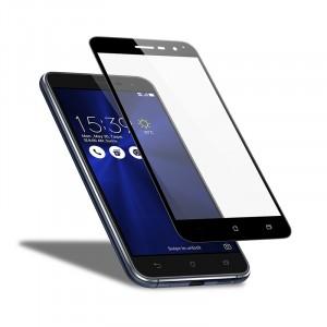 Тонкое олеофобное защитное стекло с цветной рамкой на весь экран для Asus Zenfone 3 (ZE552KL)
