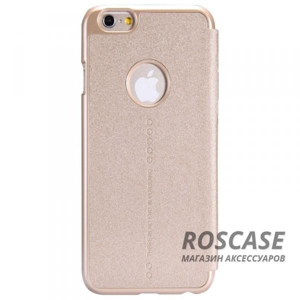 Кожаный чехол (книжка) Nillkin Sparkle Series для Apple iPhone 6/6s (4.7)  (Золотой)Описание:разработчик и производитель Nillkin;изготовлен из синтетической кожи и поликарбоната;фактурная поверхность;тип конструкции: чехол-книжка;совместим с Apple iPhone 6/6s (4.7).&amp;nbsp;Особенности:внутренняя отделка из микрофибры;ультратонкий;не скользит в руках;яркая, насыщенная палитра цветов.<br><br>Тип: Чехол<br>Бренд: Nillkin<br>Материал: Искусственная кожа