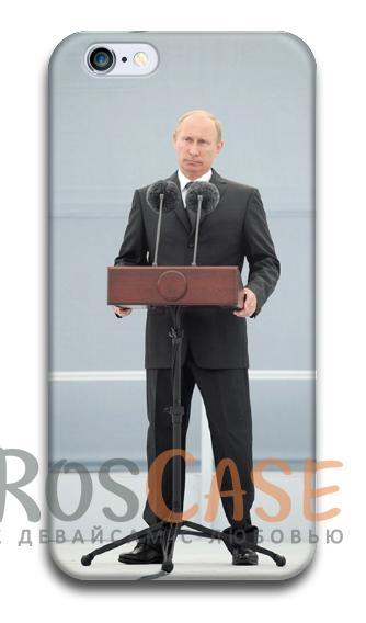 """Фото Спикер Пластиковый чехол RosCase """"Путин"""" для iPhone 4/4S"""