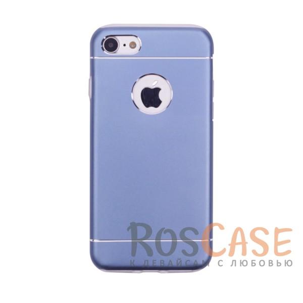 Тонкий двухслойный алюминиевый чехол с хромированными вставками и защитой кнопок для Apple iPhone 7 / 8 (4.7) (Синий)Описание:разработан для Apple iPhone 7 / 8 (4.7);материалы - металл, термополиуретан;двухслойная конструкция;матовый на ощупь;на нем не заметны отпечатки пальцев;тип - накладка;предусмотрены все необходимые вырезы.<br><br>Тип: Чехол<br>Бренд: Epik<br>Материал: Металл
